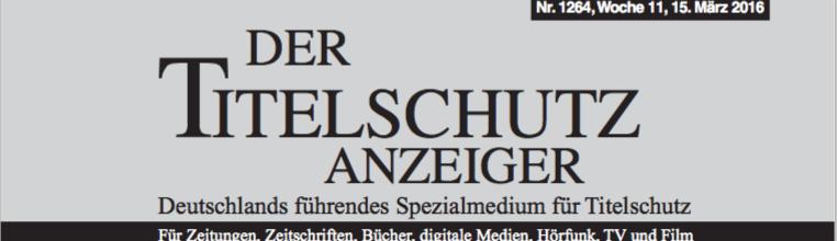 Titelschutz für den vierten Band der Dokumentation über Willy Meyer ist festgeschrieben.